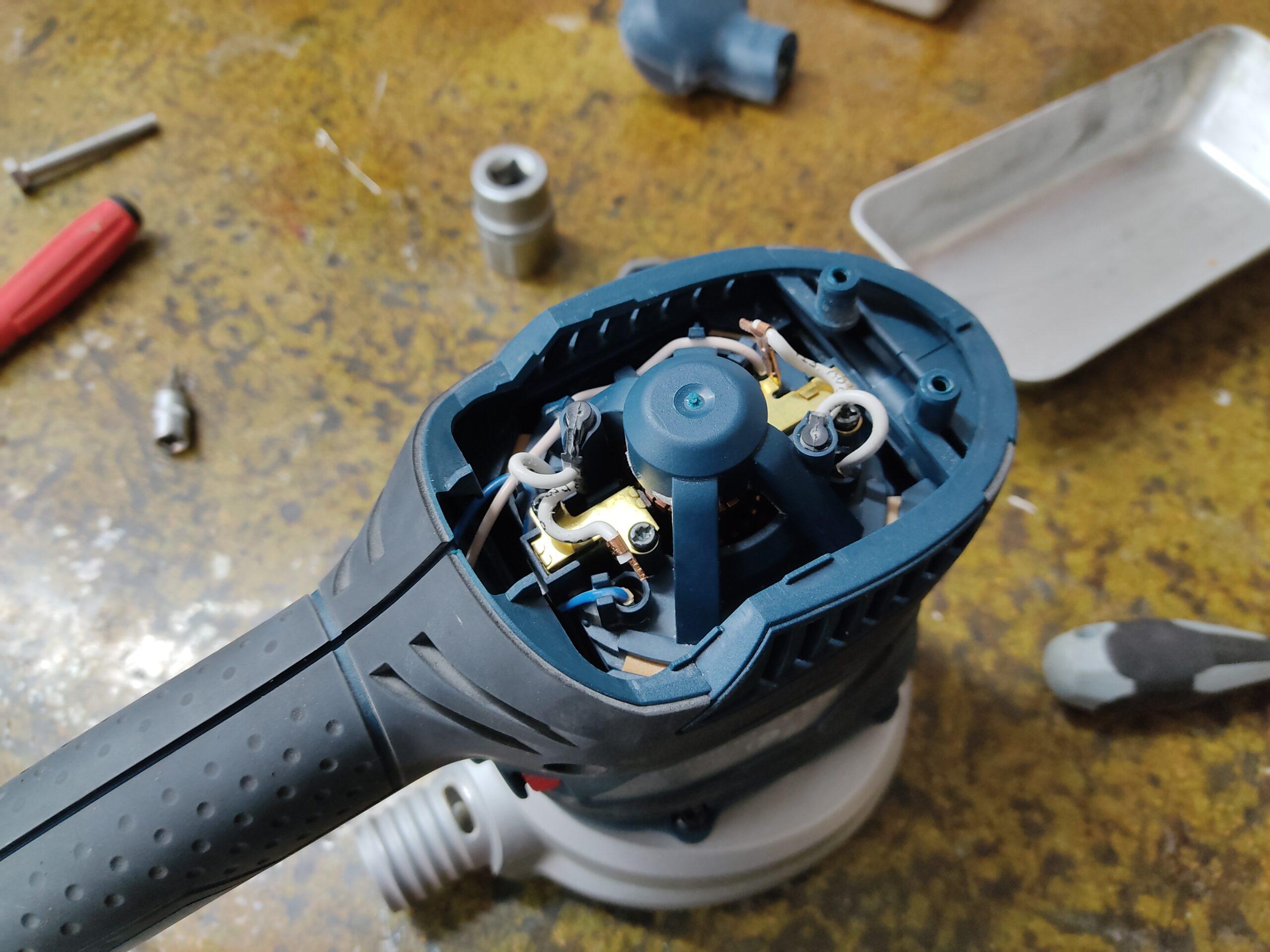 Einfacher Zugang zu Kohlebürsten und Rotor zwecks Reinigung
